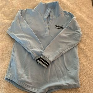 Victoria Secret Pink Blue Pocketed Sweatshirt